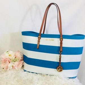 Michael Kors Striped Tote Bag Authentic!
